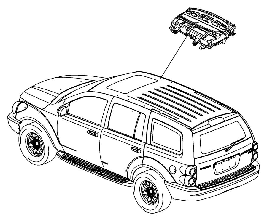 2009 Chrysler Aspen Module. Overhead console. Trim: [all