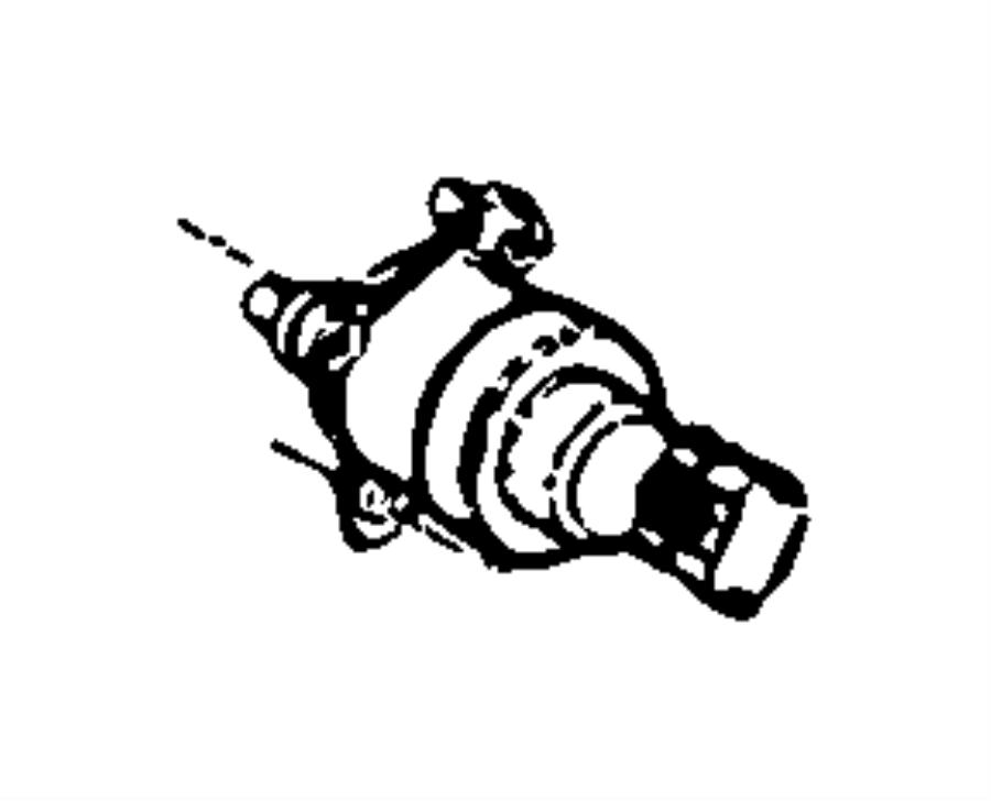 Dodge Ram 3500 Actuator. Fuel control. Injection pump