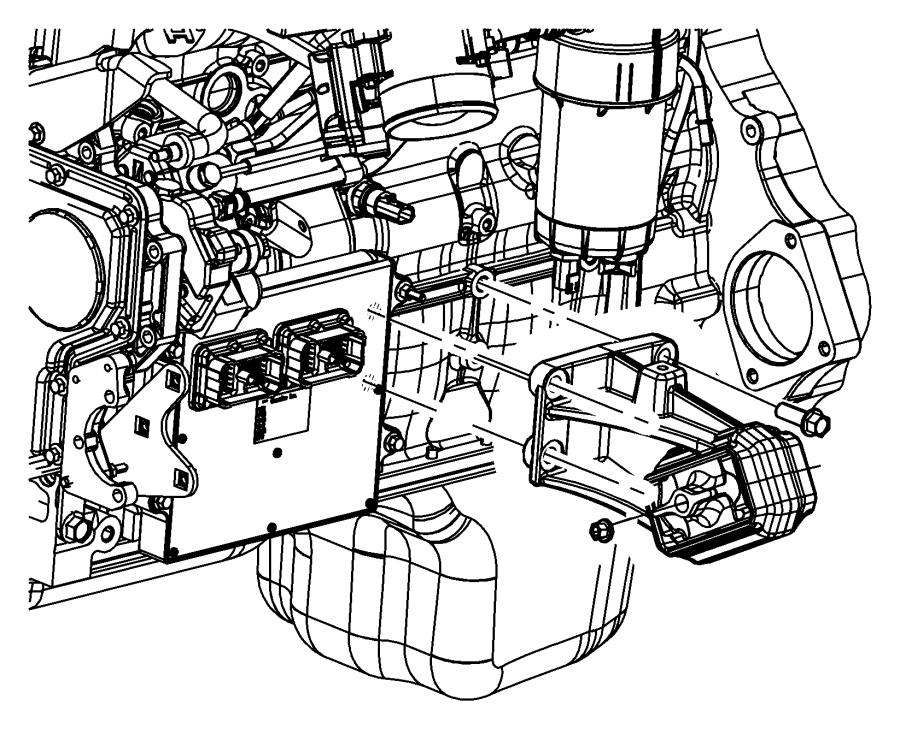 2012 Dodge Ram 3500 Bracket. Engine mount. Left side