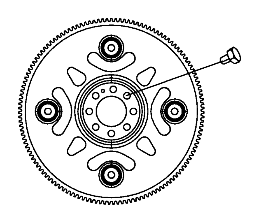 Dodge Journey Flexplate, plate. Torque converter drive