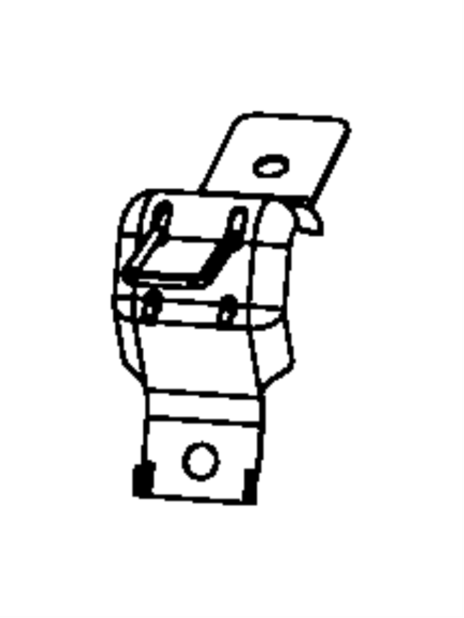 2008 Jeep Patriot Anchor, bracket. Child seat. Rear, belt