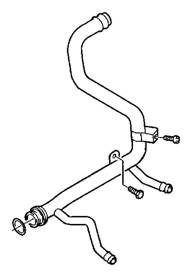 2010 Dodge Journey Tube. Heater core. Module, diesel