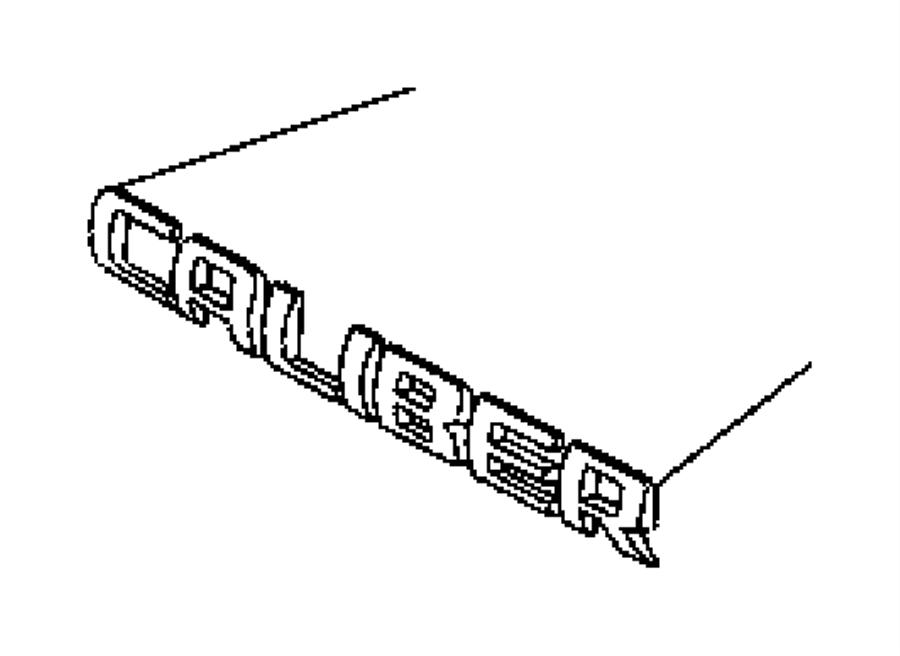 2008 Dodge Caliber Nameplate. Caliber. Body, locks