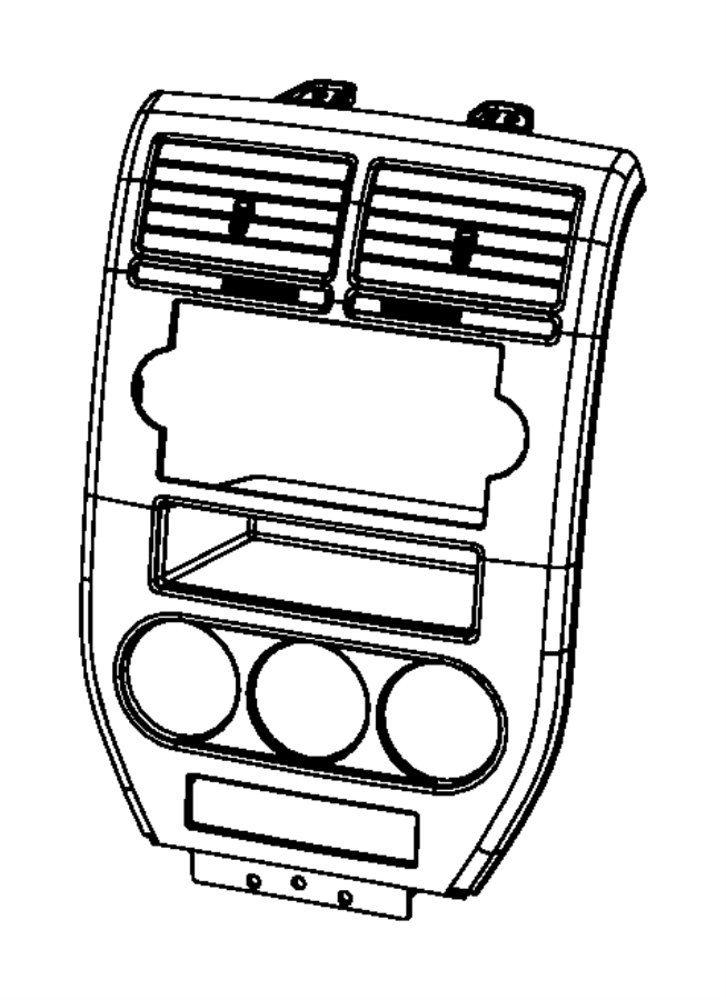 2009 Dodge Caliber Bezel. Instrument panel. Center. Trim