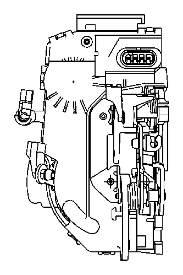 Chrysler Sebring Clip. Front door trim, latch link. Brown