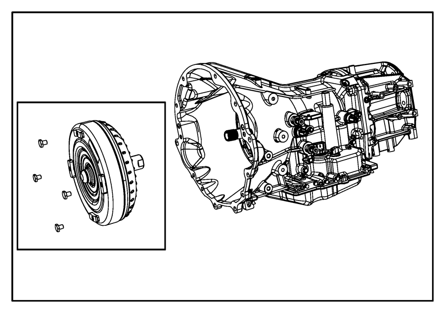 2008 Chrysler 300 Trans. With torque converter
