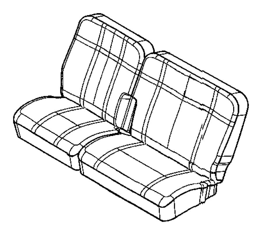 2008 Chrysler Aspen Cover. Rear seat back. Trim: [two tone