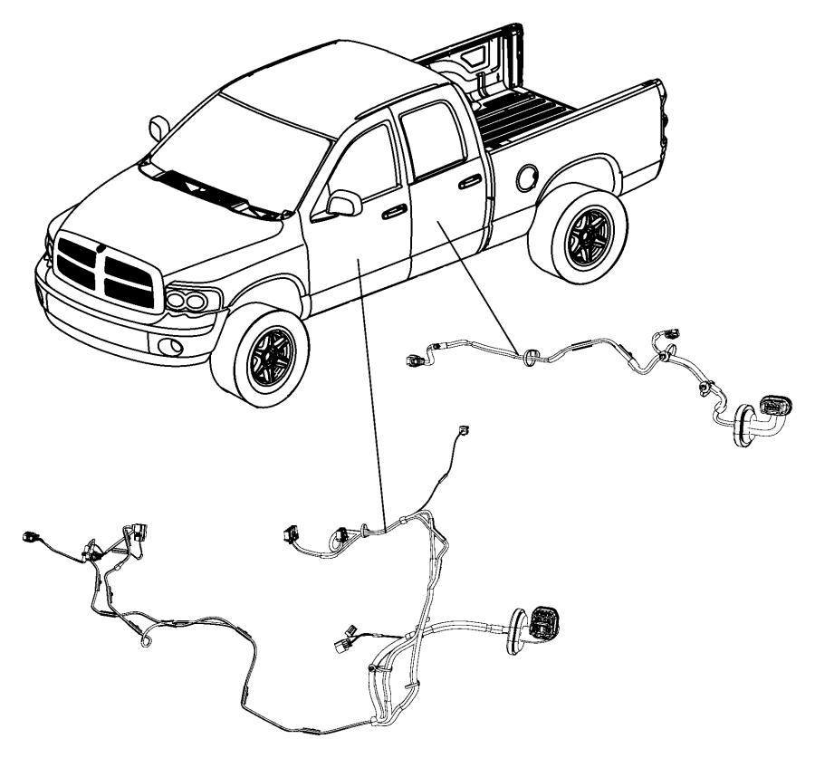 2009 Dodge Dakota Wiring. Rear door. Driver, left. [power