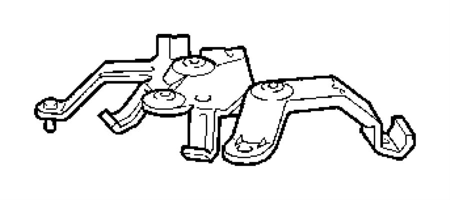 Chrysler Crossfire Bracket. Rear axle. Fuel, pump, floor