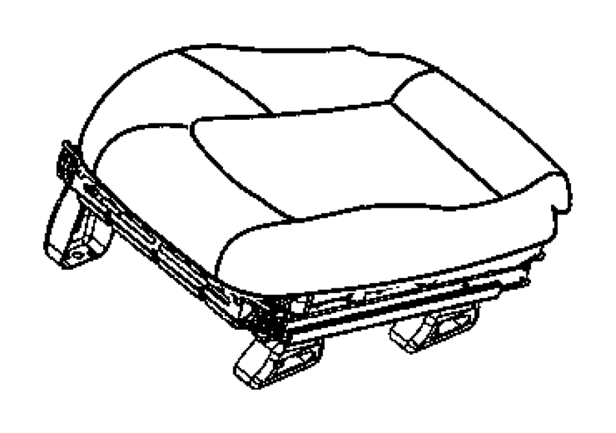 Chrysler Crossfire Cover. Front seat cushion. Left. [dv