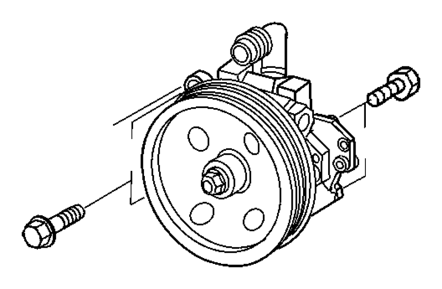 2007 Chrysler Crossfire Pulley. Maintenance, steering