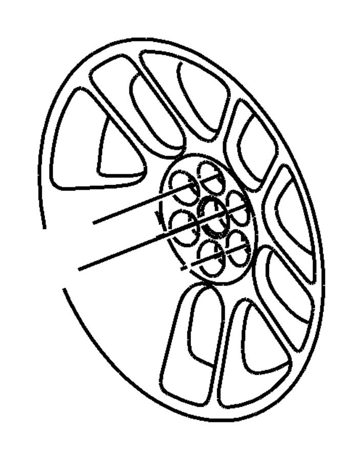 2008 Dodge Viper Wheel. Wheels, polished, aluminum