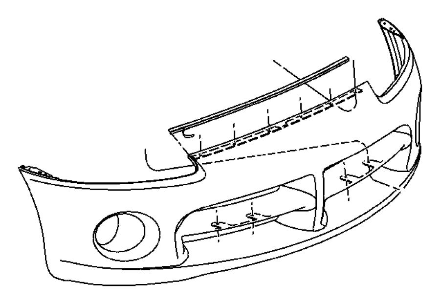 Dodge Viper Air dam. Front, fascia, mopar, bumper, body