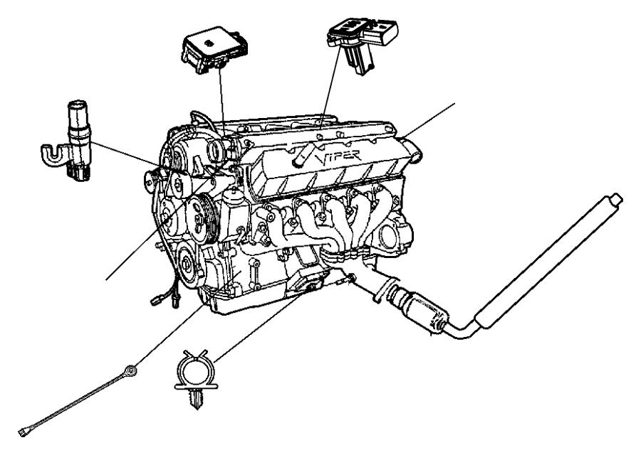 2017 Dodge Viper Sensor. Mass airflow. Engine, sensors