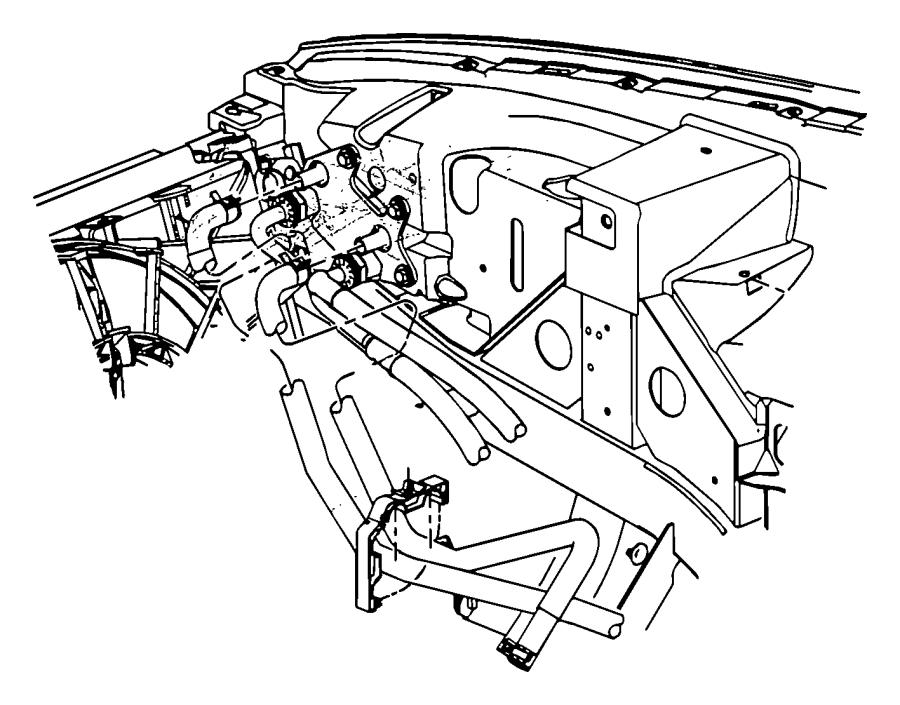 Dodge Viper Line. Oil cooler outlet. Engine, sfi, heater