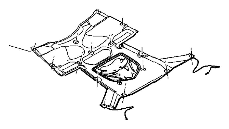 Dodge Viper Push pin. Ground strap to hood inner panel