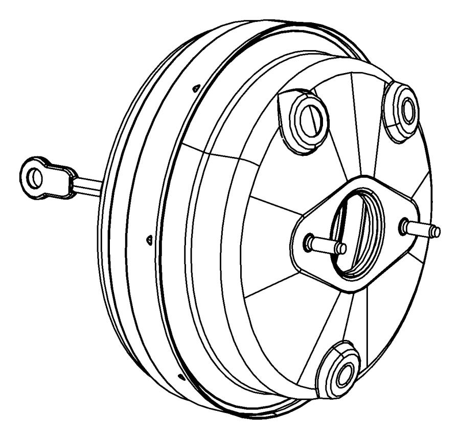 2008 Dodge Avenger Booster. Power brake. Wheel, lock, disc