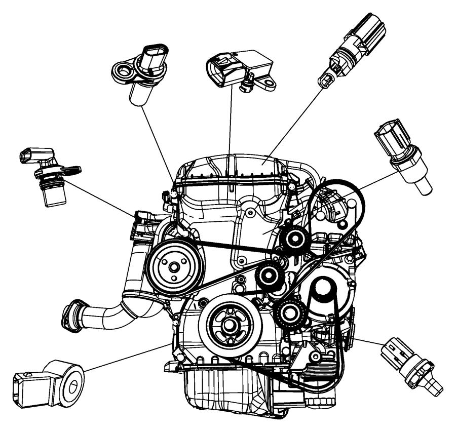 2012 Dodge Journey Sensor. Crankshaft position. Vehicle