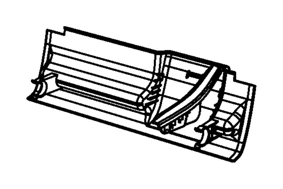 2008 Chrysler Sebring Panel. Toe kick. Trim: (*dl.)color