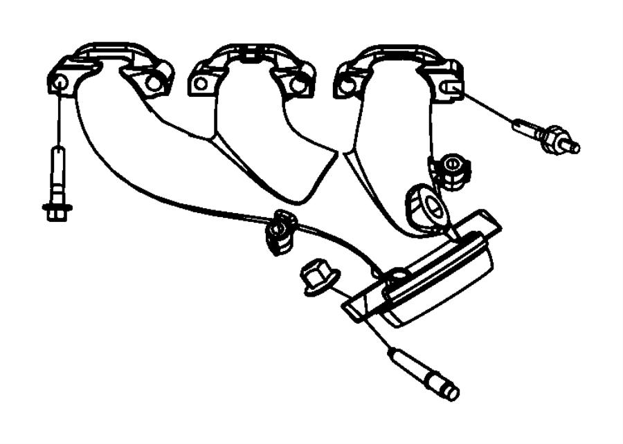 2006 Chrysler 300 Manifold. Exhaust. Right. Egg, manifolds