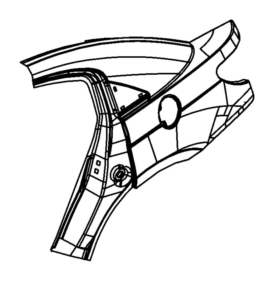2010 Chrysler Sebring Panel package. Body side aperture