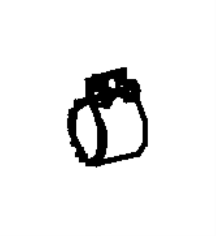 Dodge SPRINTER Clamp. Exhaust. [60 mm] front muffler to