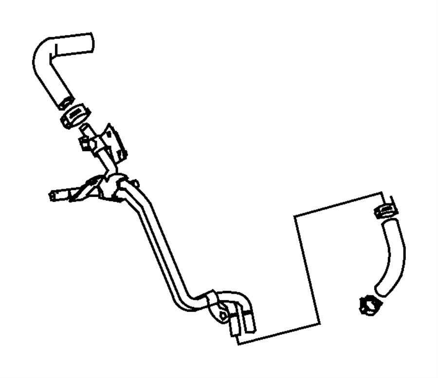 2009 Dodge SPRINTER 3500 Clamp. Hose. Fuel, lines, filter