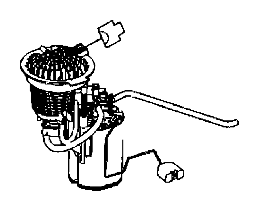 2014 Jeep Patriot Connector. Female. Fuel, pin, pump