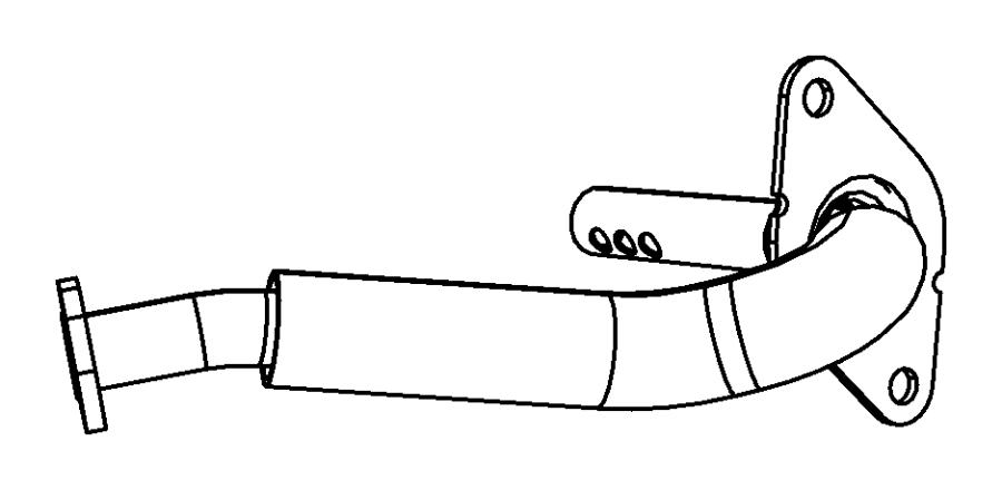 Dodge Journey Tube. Egr valve, egr valve to intake plenum