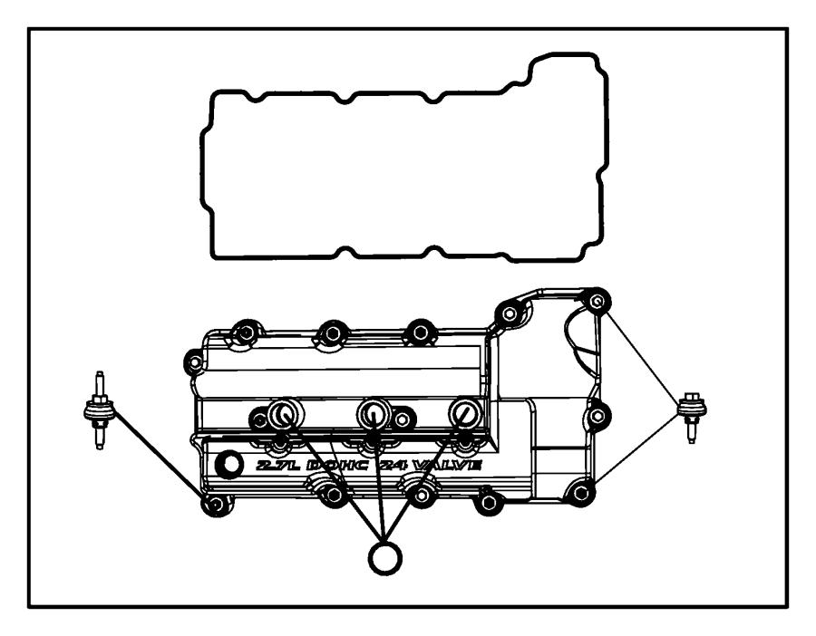 2008 Chrysler Sebring Cover. Cylinder head. Right. Engine
