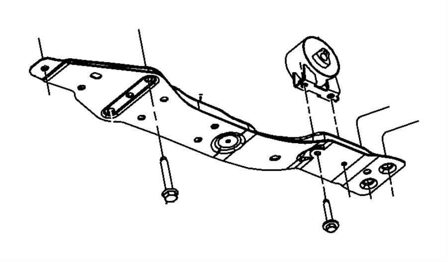 Chrysler Sebring Bushing. Isolator. Front, left side. [5