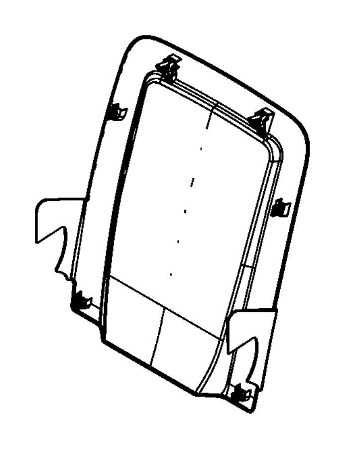Dodge Journey Panel. Seat back. Left. [ka]. Trim: [prem