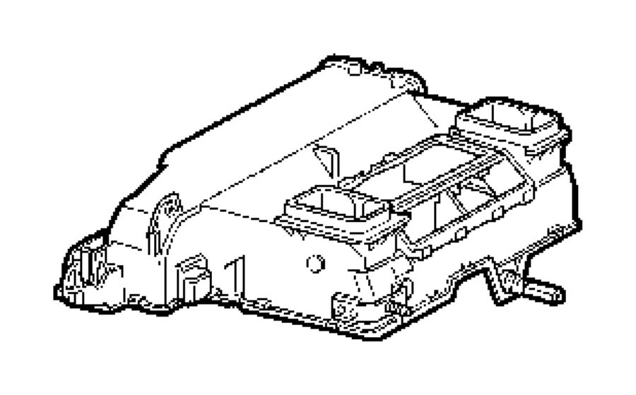 2010 Dodge NITRO Housing. A/c and heater upper. Air