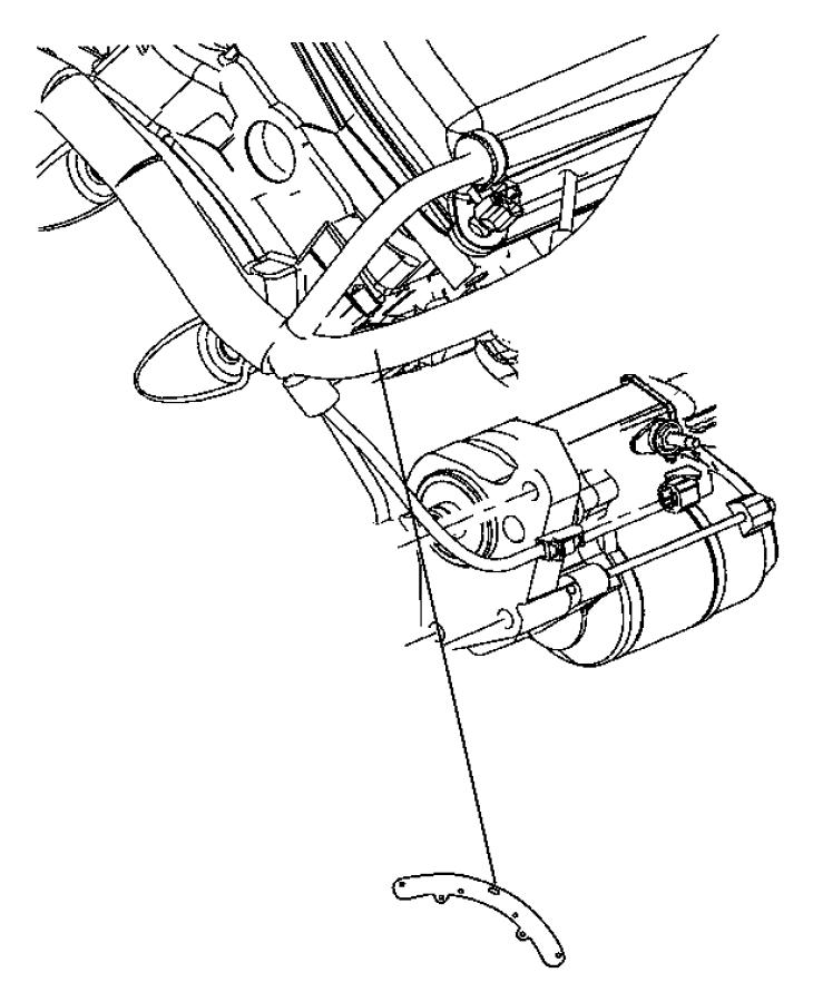 2010 Dodge Challenger Bracket. Wiring harness. Starter