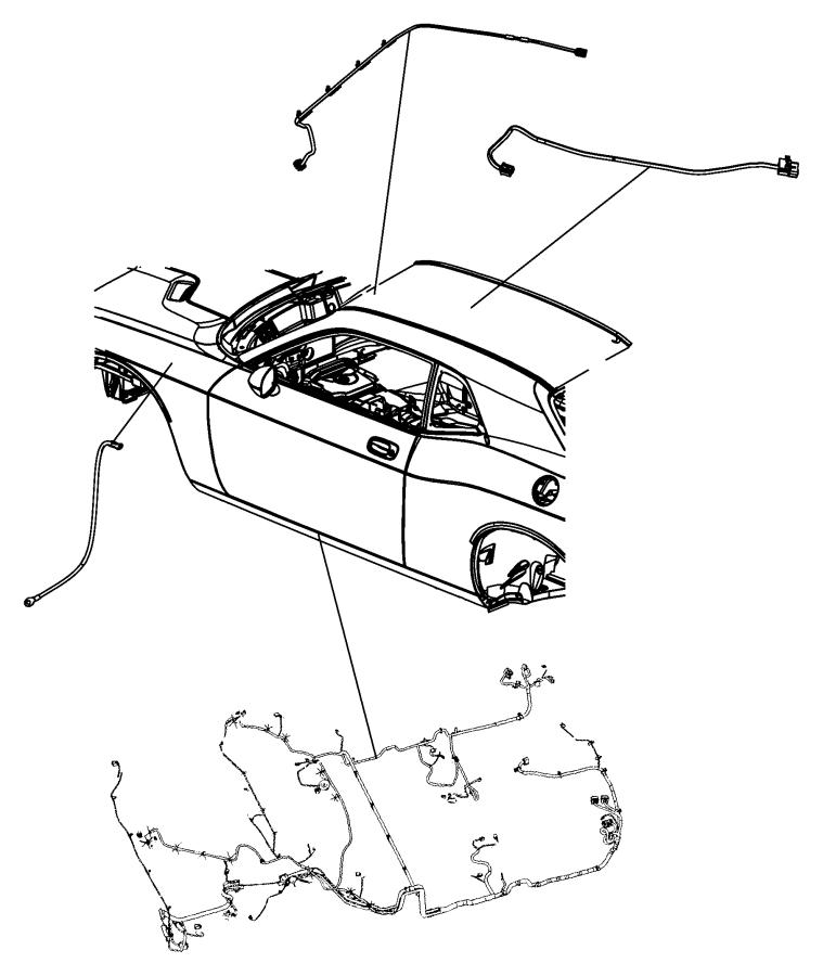 Dodge Challenger Wiring. Mirror jumper. [rr view auto dim