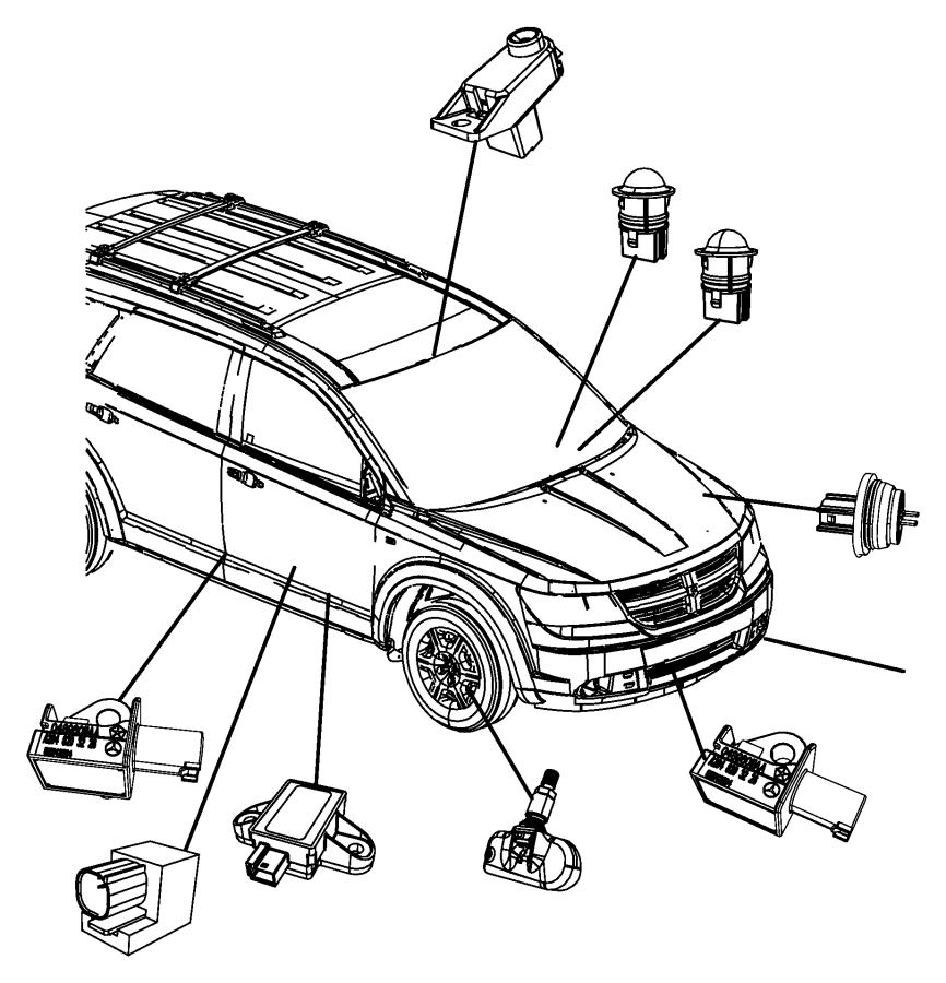 2009 Chrysler Town & Country Sensor. Acceleration, impact