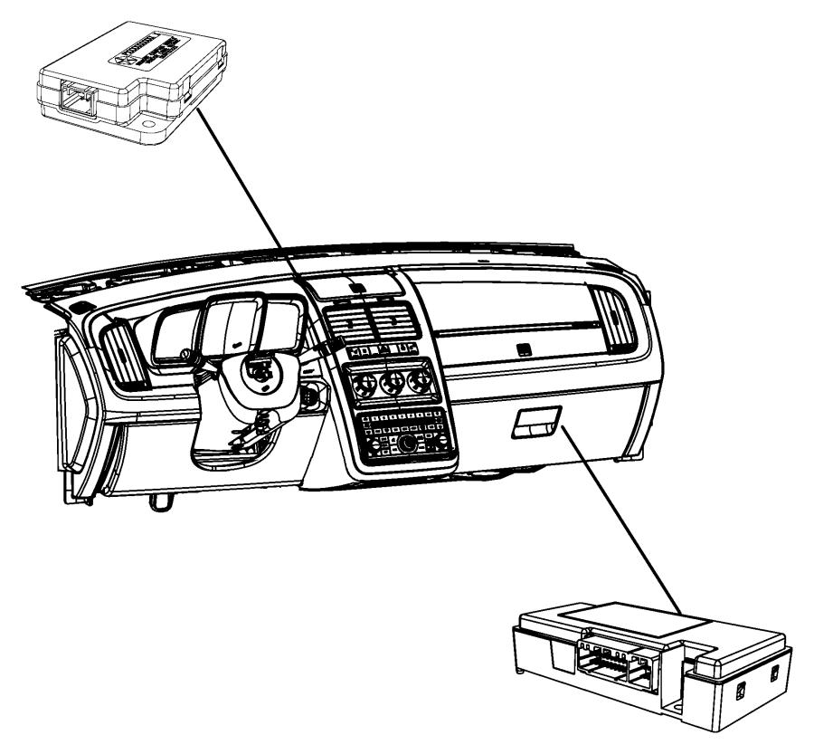 2010 Dodge Ram 1500 Module. Telematics. Export