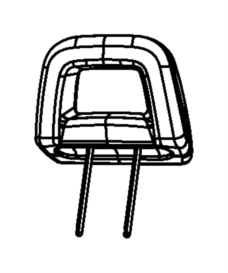 Jeep Compass Headrest. Rear. Outboard, outer. Trim: [stain