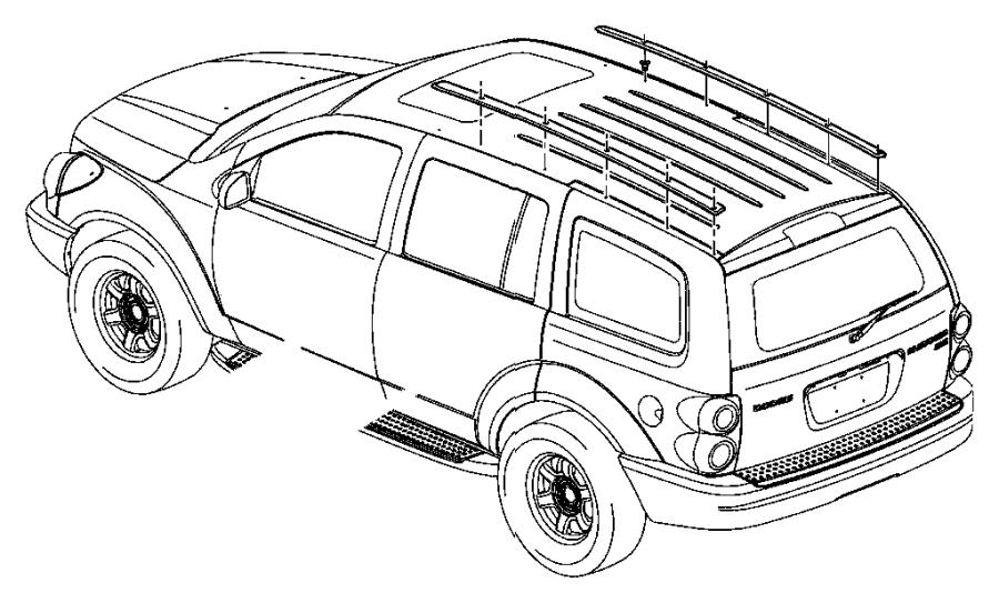 2007 Chrysler Aspen Weatherstrip. Rear door belt outer