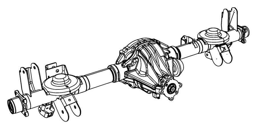 Chrysler Aspen Axle. Service rear. [3.55 axle ratio