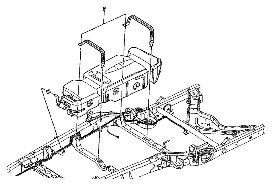 Chrysler Aspen Tube. Control valve to canister