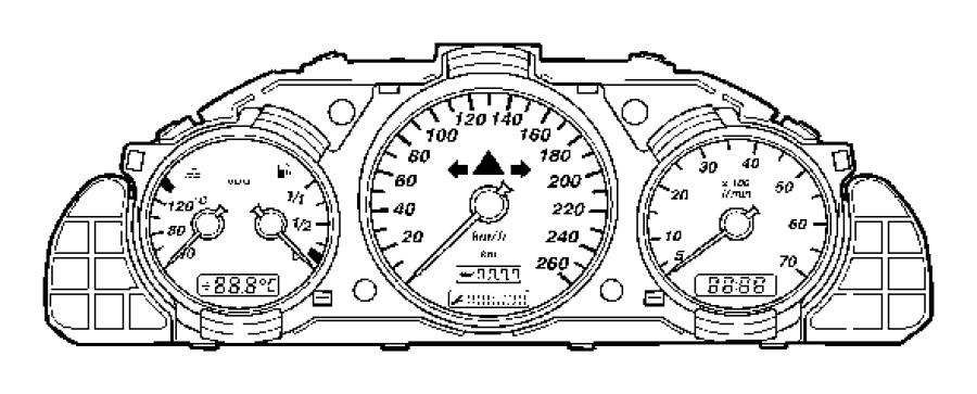Chrysler Crossfire Cluster. Instrument panel. Mopar