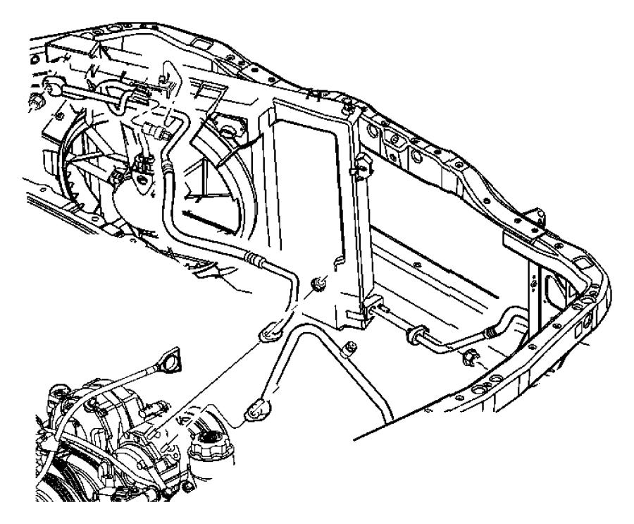 2008 Dodge Durango Fan module, shroud. Condenser