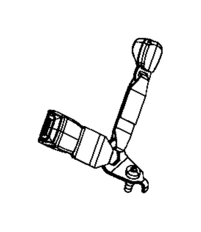 2010 Chrysler Town & Country Seat belt. 3 passenger inner