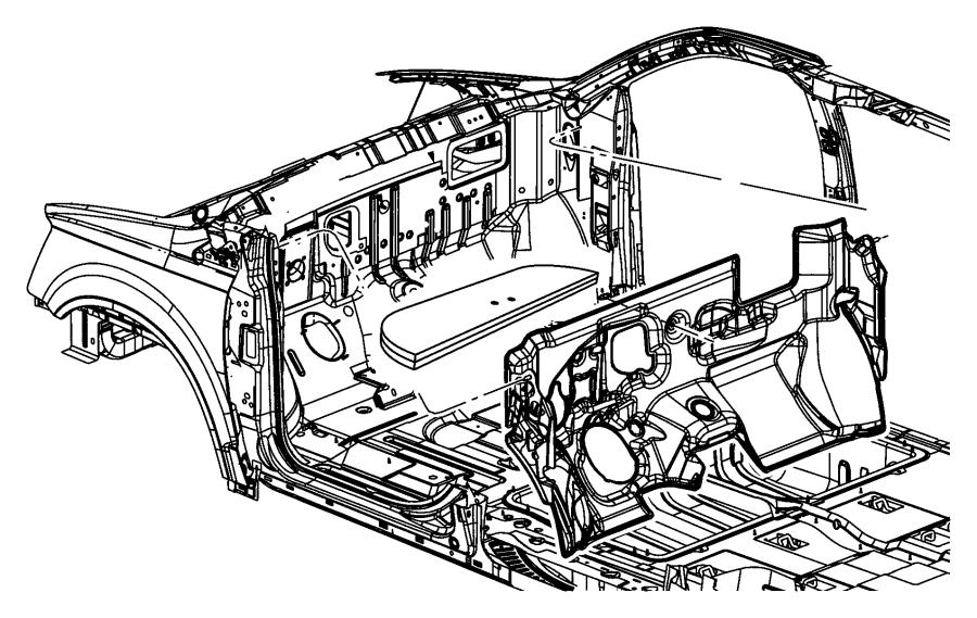 Ram C/V Silencer. Dash panel. [cargo van group