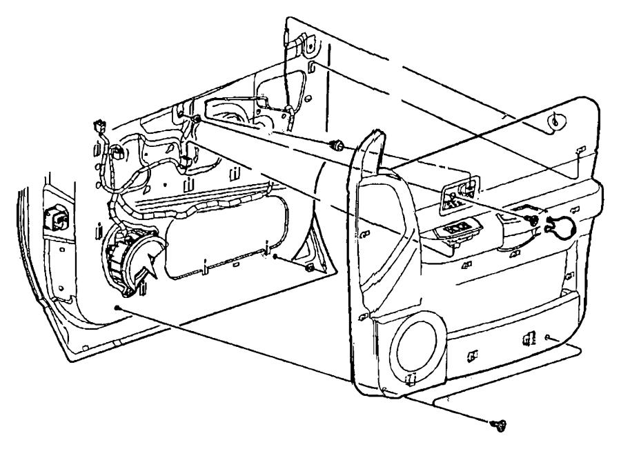 2009 Chrysler Aspen Cap. Handle screw cover. [d5]. Trim