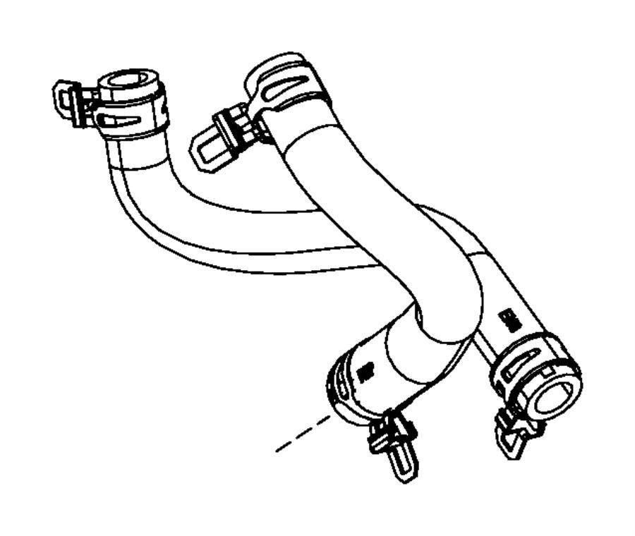 Dodge Durango Hose. Heater return. Air, conditioning