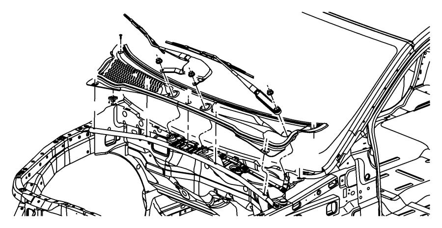2004 Dodge Durango Blade. Front wiper, wiper. Left