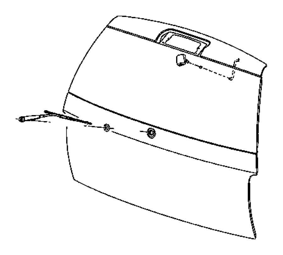2005 Dodge Durango Blade. Rear window wiper, rear wiper