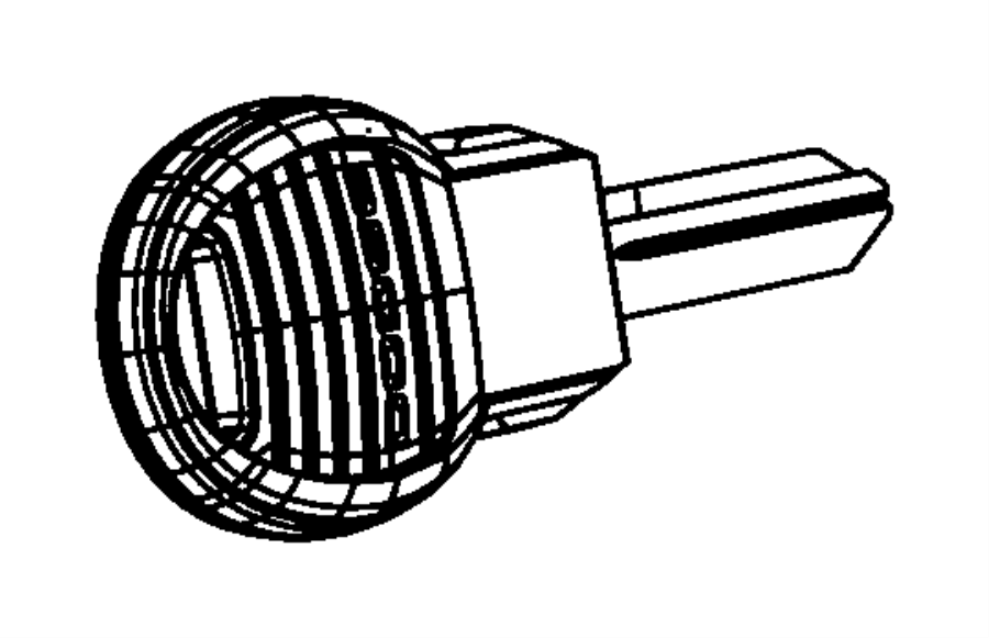Chrysler Aspen Key. Blank with transmitter. [[keyless